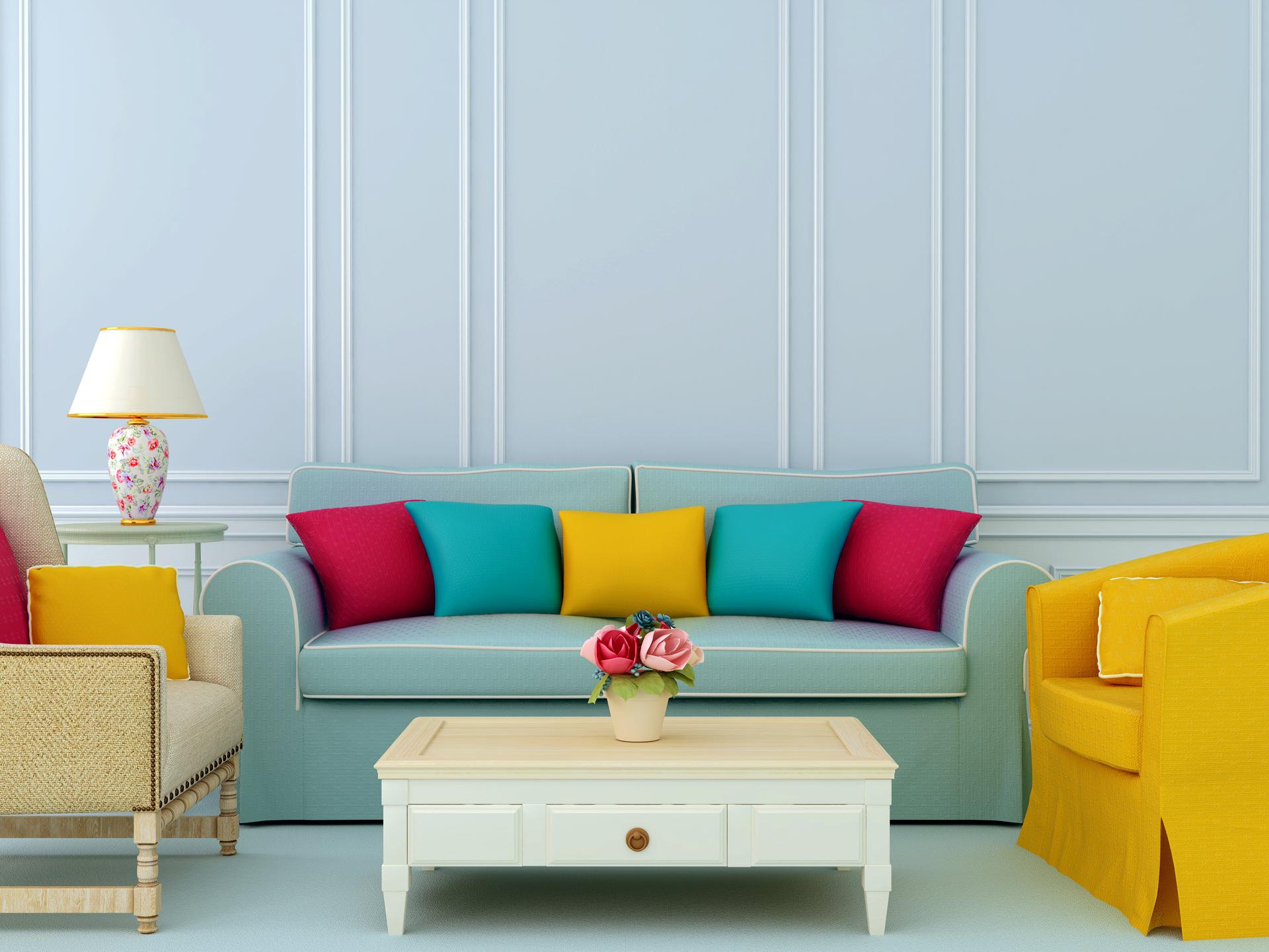 As cores da sua casa. Uma palete de opções